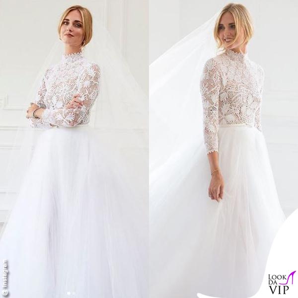 Scarpe Sposa Per Abito In Tulle.Chiara Ferragni Primo Abito Da Sposa Dior Scarpe Jadior Atelier